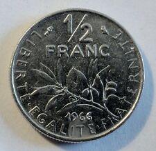 Frankreich / France - 1/2 Franc - 1966  Nickel - vz / xf