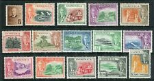 Dominica 1951 KGVI. COMPLETE set of 15. MLH. SG 120-134.