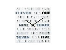 Karlsson uno dos tres Plástico Reloj De Pared, Gris, ka5220gy