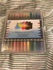 Artiste Watercolour Dual Tip Pen Brush and Marker, Pack of 12 Multi