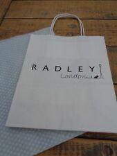 Radley London Small Paper Carrier Bag with Sheet of Tissue 18cm  x 21.75cm