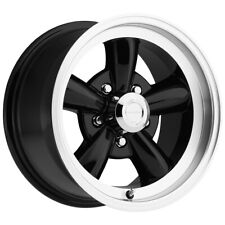"4-Vision 141 Legend 5 15x7 5x4.5"" +6mm Gloss Black Wheels Rims 15"" Inch"