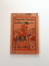"""Vintage Paperback """"Gullivers Travels"""" Dean Swift, Whitcombes, Dated 1944"""