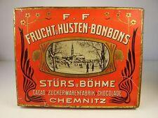 Antike Blech Dose Cacao Zuckerw. Chocoladen Fabrik S & Böhme Chemnitz vor 1945