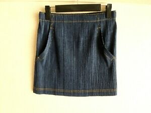 issey miyake pleats please skirt made in japan mini denim MINT RARE