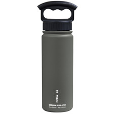 Fifty/Fifty 18oz GREY Insulated Stainless Steel Water Bottle 3 Finger Lid