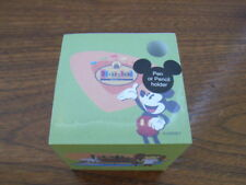 Mickey Mouse Disneyland 50th Anniv Memo Note Pad Cube w/Pen Holder Paper SEALED