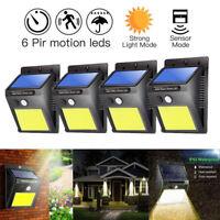 48 COB LED Solar Power PIR Sensor Wandleuchte Draussen Wasserdicht Garten Lampe