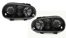 LHD Headlights For VW Golf Mk4 Iv 98-04 Black Projector R32 Gti Style Lamp Part