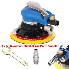 "6"" Air Random Orbital Palm Sander Car Auto Body Automotive Sanding Polisher Set"