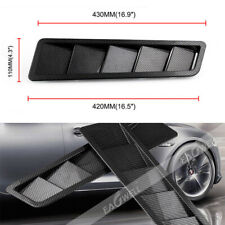 2x Universal Car Carbon Fiber Look Style Hood Vent Louver Cooling Panel Trim NEW