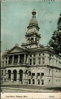 Hillsdale Michigan~County Court House~CU Williams Photo Advertising Back~1912