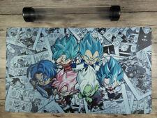Dragon Ball Manga Goku Vegeta Custom Duel Playmat YuGiOh/MTG/VG Free Best Tube