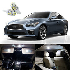 11 x Xenon White LED Light Interior Package Kit for Infiniti Q50 Q60 2014 - 2018