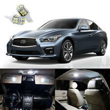 11 x Pure White LED Light Interior Package Kit for Infiniti Q50 Q60 2014 - 2018
