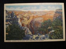 GRAND CANYON NATIONAL PARK~VISHNU TEMPLE FROM DUCK ON ROCK~FRED HARVEY POSTCARD