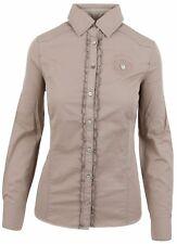 L' ARGENTINA Damen Bluse Women Shirt Größe 38 M 100% Baumwolle Cotton Beige NEU
