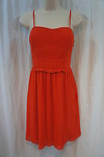 Nine West Petite Dress Sz 6P Orange Spaghetti Strap Cocktail Party dress