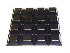 16 x STICKY ADHESIVE RUBBER FEET 20x20x8MM