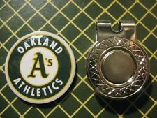 GOLF / Oakland A's Logo Golf Ball Marker/with Magnet Hat Clip New!!