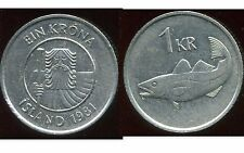 ISLANDE  1 krona  1981 -  ANM