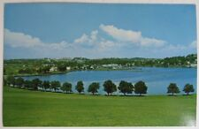 VINTAGE LUNENBURG NOVA SCOTIA GOLF COURSE UNUSED POSTCARD             (INV18232)