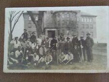 1910s RPPC SIZE PHOTO WILLIAM H GLASGOW AT COLLEGE BUILDING FAYETTE MISSOURI  MO