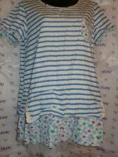 $80 nombre Impair daisy stripe mesh embroidery hip blouse kni tunic small top