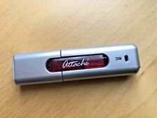 Vintage PNY Technologies 256MB Attache USB 2.0 Flash Drive Sliver Red
