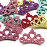 30pcs Padded Crown Bright Powder Craft Appliques Babyshow Wedding Deco