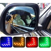 2 Pcs Arrow Panel 14SMD LED Car Side Mirror Turn Signal Light Multi Color FG