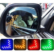 2 Pcs Arrow Panel 14SMD LED Car Side Mirror Turn Signal GREEN  LE