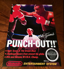 "Mike Tyson's PUNCH OUT !! NES box art retro video game 24"" poster print nintendo"