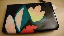 NEW Fossil Printed Wrist Pouch Dark Floral SL6623992 Coated Cosmetics Wristlet