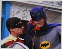 Batman and Robin 66 Adam West Burt Ward 11x14 Autograph Signed Photo JSA
