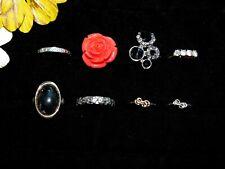 Rings LOT Fun & Fancy Casual Fashion Styles Moon Ring Hawaii Flower Size 5.5 -8