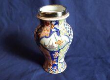 Stunning Japanese Porcelain  Enamelled  Silver Collared Export Vase  date 1912