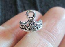 Pack de 15 3D Tibetan Silver Princess Crown Tiara Charms Pendants 11 mm x 10 mm