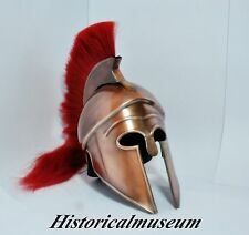 Greek Corinthian Helmet Red Plume Armor Medieval Knight Spartan Free Cap Style