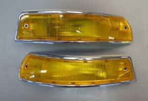 1965-68 Porsche SWB 911 Turn Signal Assemblies Housings - Beautifully Restored
