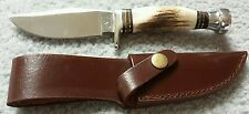 """Whitetail Cutlery Hunter Select Bowie Knife w/ Sheath 8.5"""" Frost"""