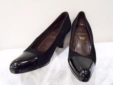 BRUNO MAGLI Italian Black Velvet & Patent Leather Court Shoe - Size 4 1/2