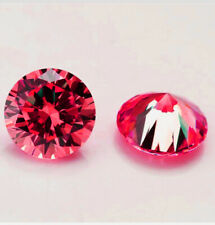 Luxury 14k Gold over Stud Earrings with Solitaire Round Cut Ruby Stones