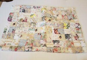 Garnet Hill Standard Shams Patchwork Quilt - Pair of 2 - Pastel Florals Cotton