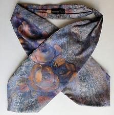 Inglés Floral Corbata Para Hombre Casual Neckwear Hippie Flower Power púrpura Raso en muy buena condición