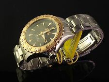 INVICTA MENS 18K ROSE GOLD PLATED S.S. OCEAN GHOST DIVER W BLACK CARBON DIAL
