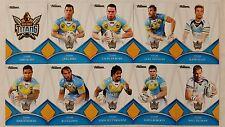 NRL 2016 Trading Cards Gold Coast Titans full set of 10