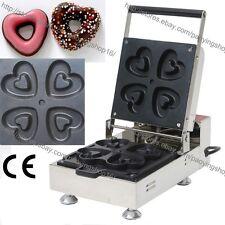 Commercial Nonstick Electric 4pcs Mini Heart Doughnut Donut Maker Baker Machine