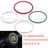 Car Steering Wheel Trim Circle Sequins Cover Sticker For Mazda 3 6 ATENZA 17-18