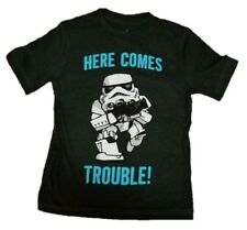 New Disney Parks Star Wars Stormtrooper Youth T-shirt Xs Here Comes Trouble